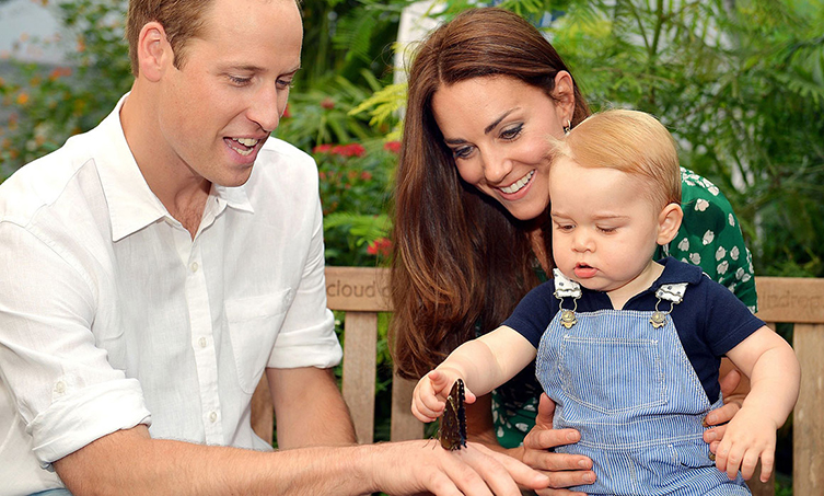 HRH Prince George visits the Sensational Butterflies exhibition