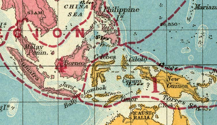 A coloured map of the the Malay archipelago