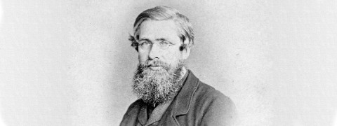 Portrait photograph of Alfred Russel Wallace in middle age
