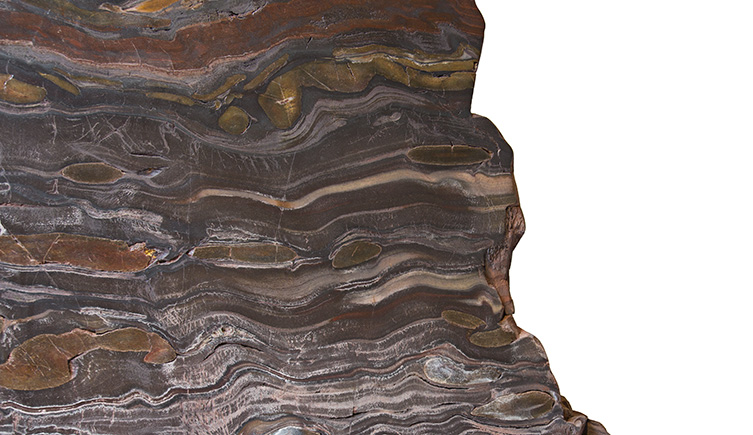 The banded iron formation is a touchable specimen