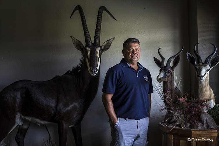 A rhino horn farmer in South Africa