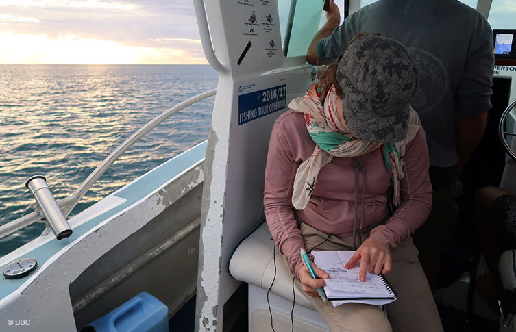 Kathryn Jeffs, producer on Blue Planet 2: Green Seas © BBC
