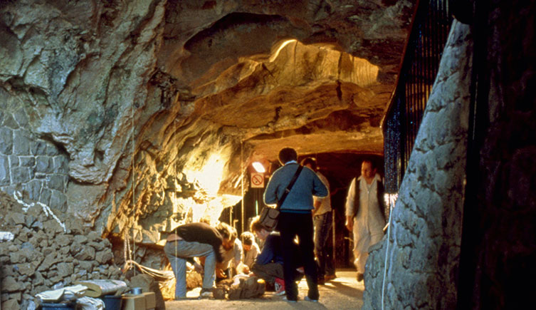 Excavations at Gough's Cave in Cheddar Gorge.