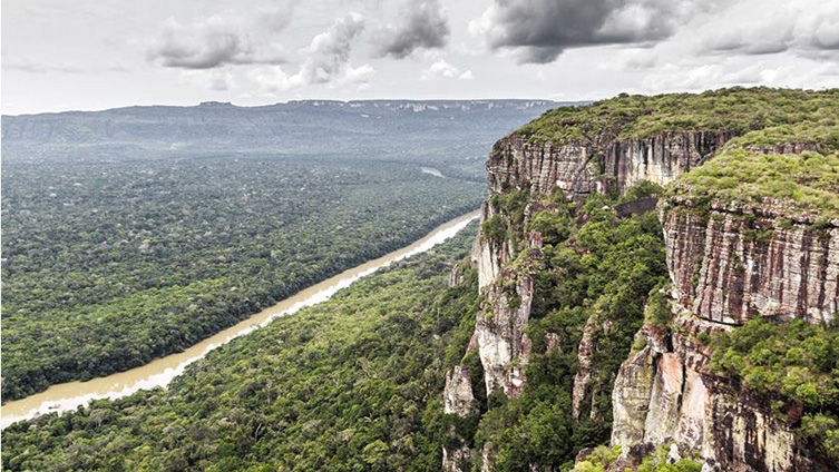 An image of Chiribiquete National Park in Colombia