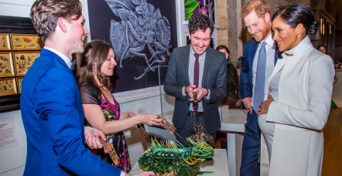 The Duke and Duchess of Sussex, Meghan and Harry, meet Museum staff