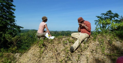 Emanuela and her colleague Paul Taylor in the field in Indonesia.
