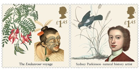 Captain Cook Special Stamps, courtesy of Royal Mail