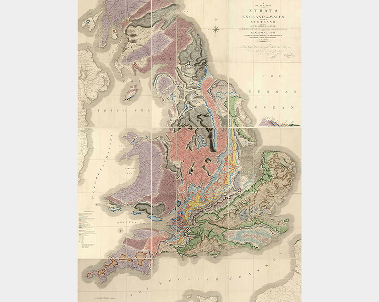 William Smith's 1815 geological map of Britain