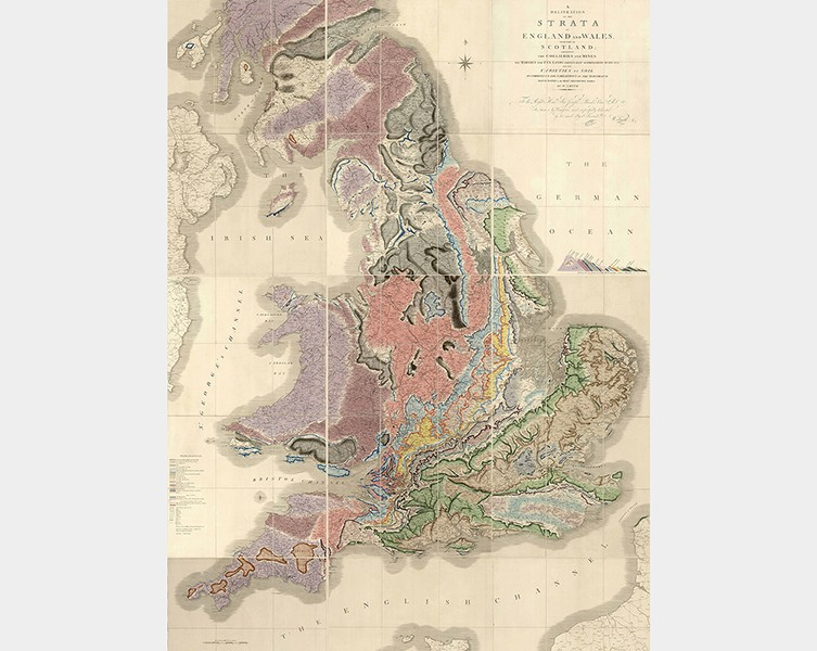 Map Of England Great Britain.Britain S First Geological Map Natural History Museum
