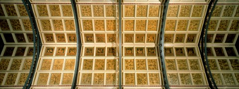 The ceiling of Hintze Hall