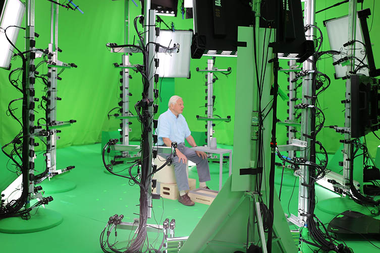 A hologram is created using more than 100 cameras in Microsoft studios