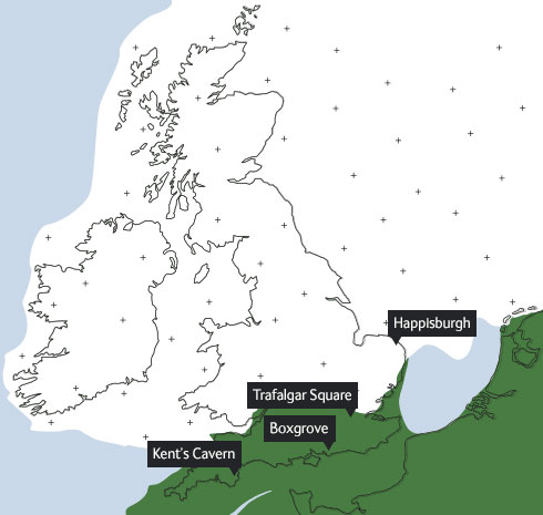 Map of Britain as it was 450,000 years ago