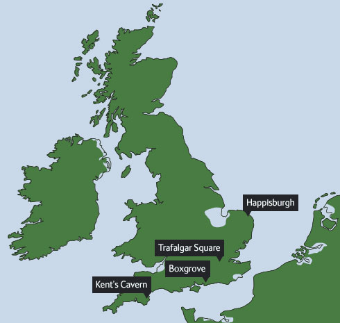 Map of Britain as it was 125,000 years ago