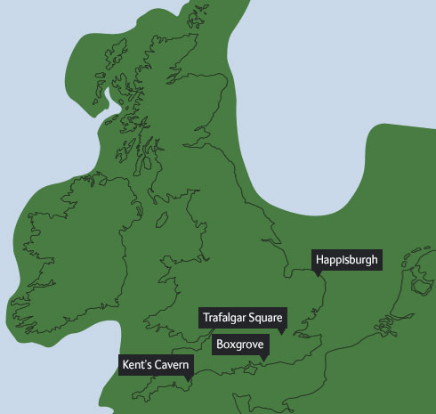Map of Britain as it was 60,000 years ago