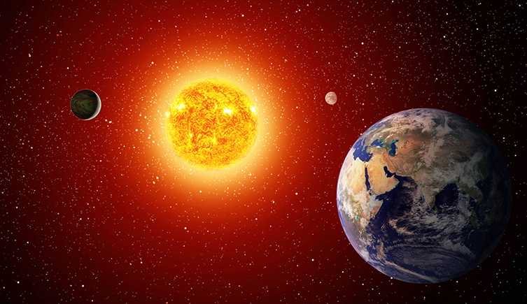 Earth is the perfect distance from the Sun to support life