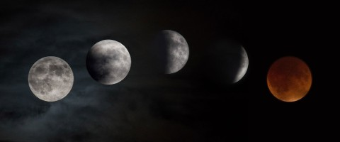 A lunar eclipse