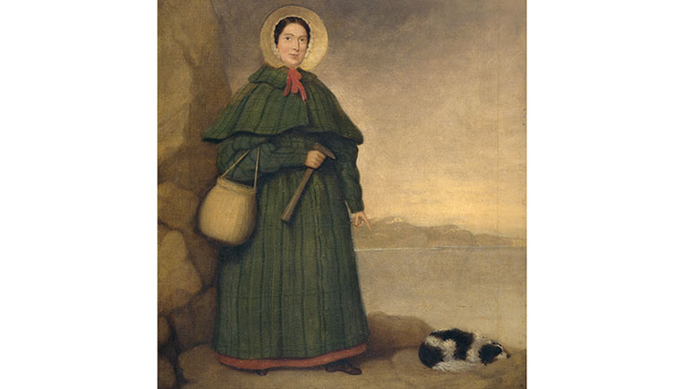 Portrait of Mary Anning and her dog, Tray