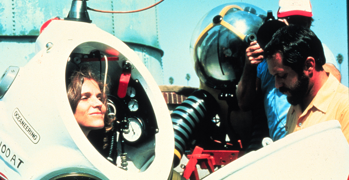 Dr. Sylvia Earle prepares to dive © NOAA Photo Library
