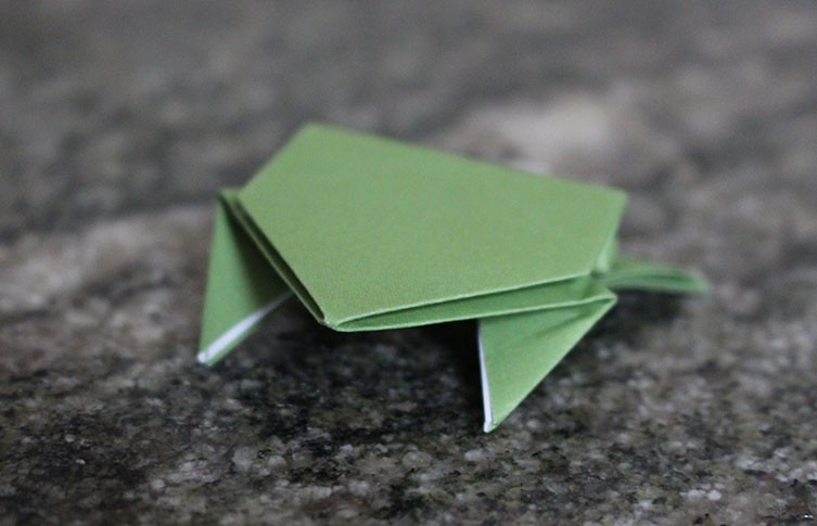 Origami Frog Base Folding Instructions | 485x753