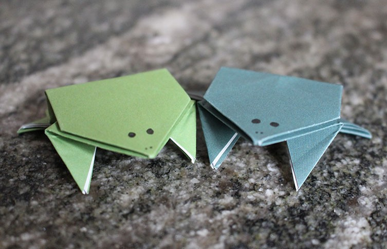 Aileen Edwin Origami: Frog Base | 485x753