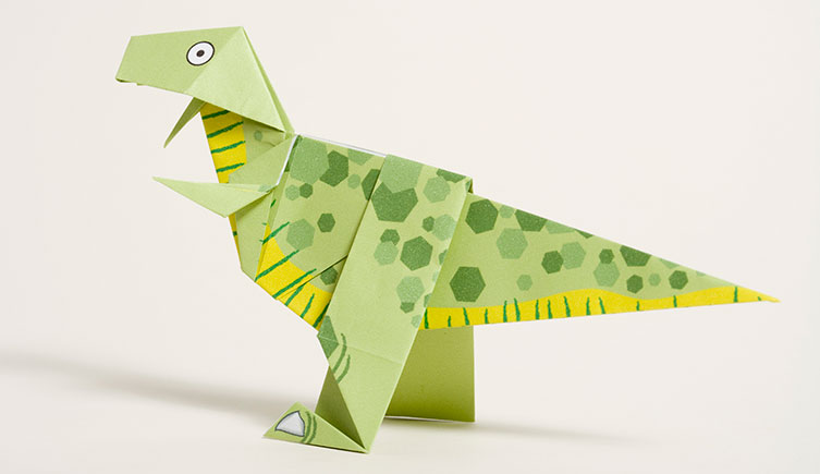 The completed origami T. rex