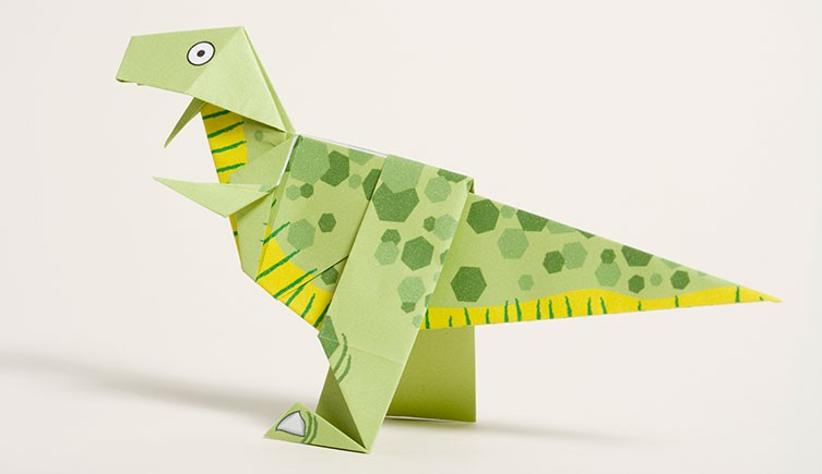 Origami Dinosaur Stock Illustrations – 189 Origami Dinosaur Stock ... | 435x753