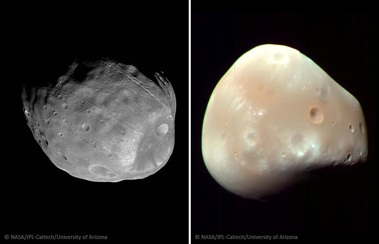 Mars&#39 moons Phobos and Deimos