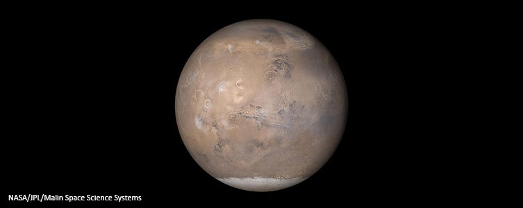 A view of the Red Planet. Image by NASA.