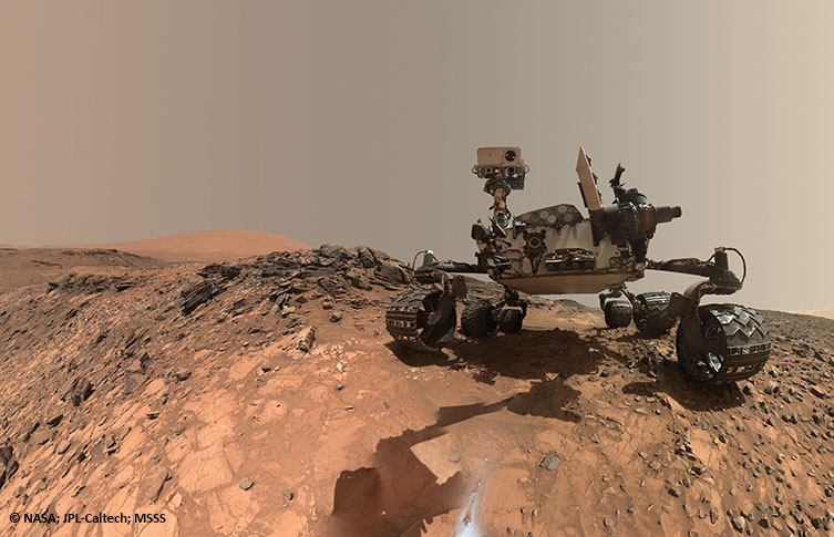 The Mars rover Curiosity self-portrait