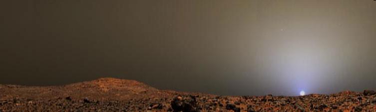 Puesta de sol en Marte de Pathfinder Images