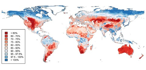 World map of biodiversity loss