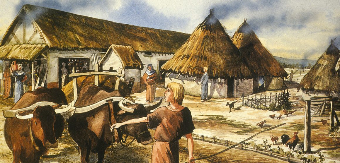Illustration of daily life in Roman London