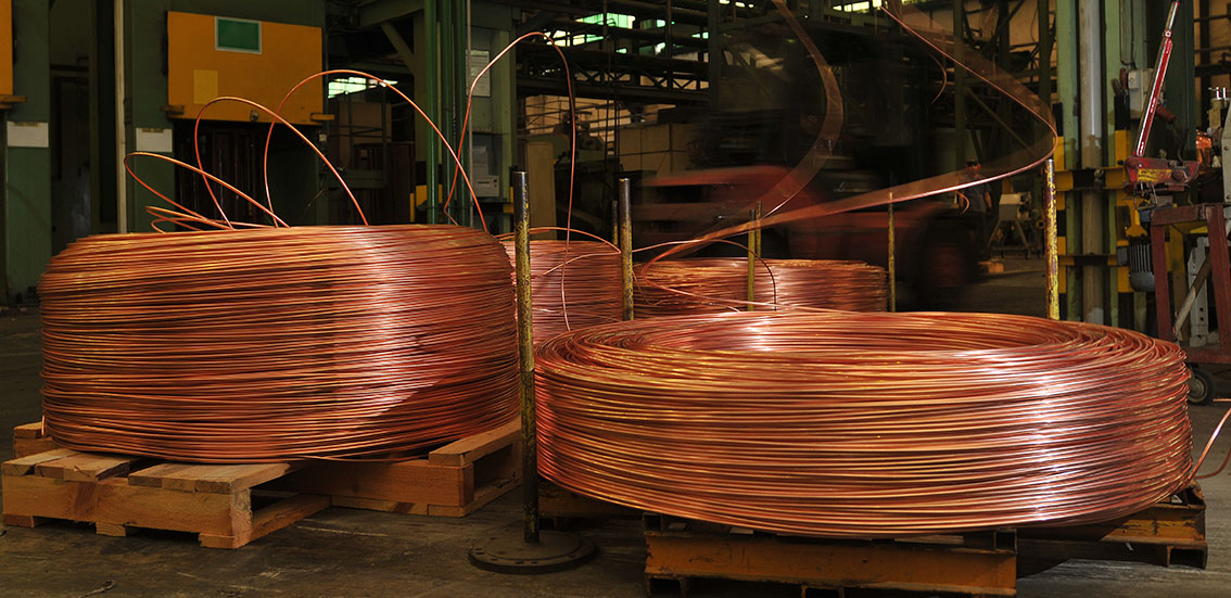 A copper cable factory