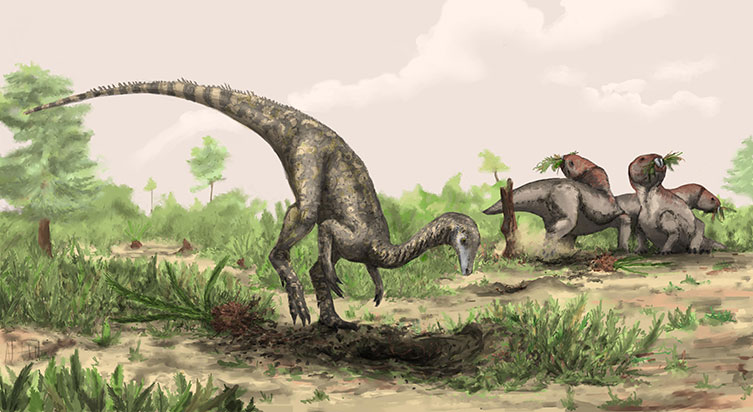 Palaeoart reconstruction of Nyasasaurus parringtoni
