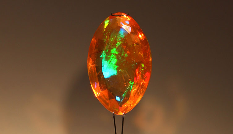 A fire opal from the Museum's collection