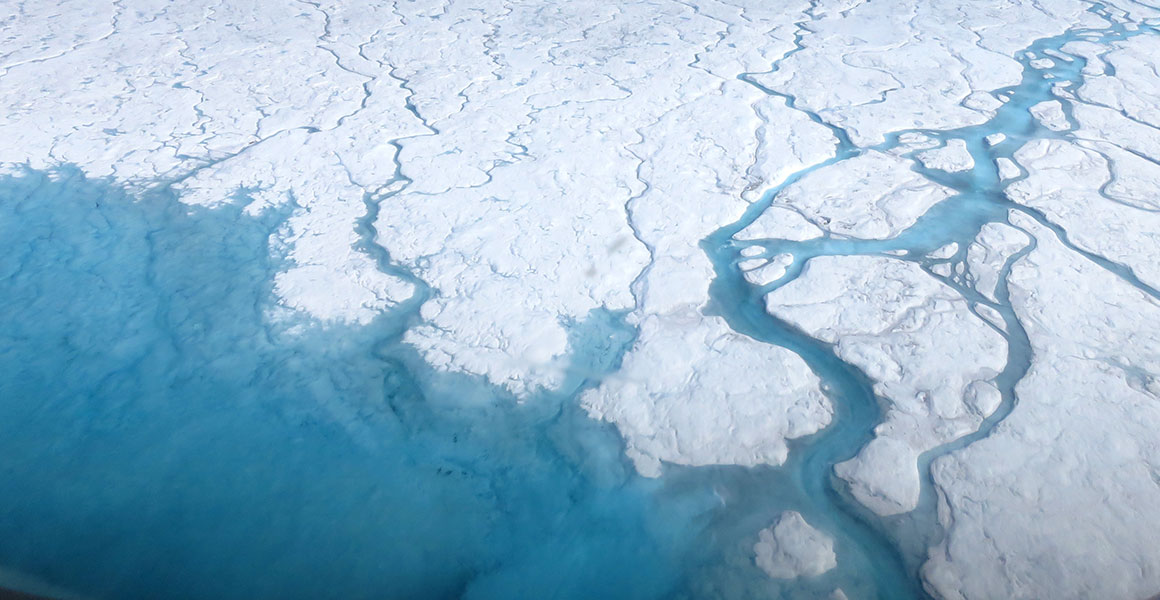 Greenland's ice sheet melting in the summer