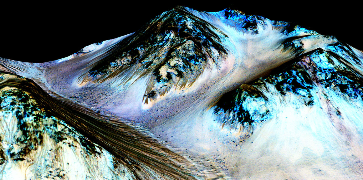 Salty water streams give further hint at life on Mars
