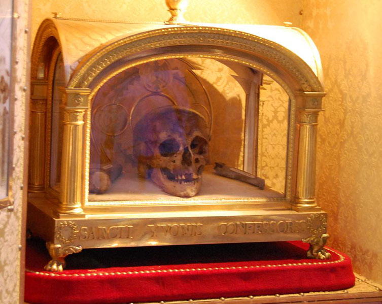 Skull of St Yves