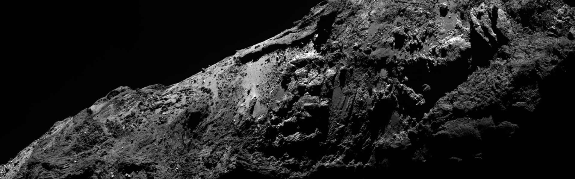 Comet viewed from Rosetta