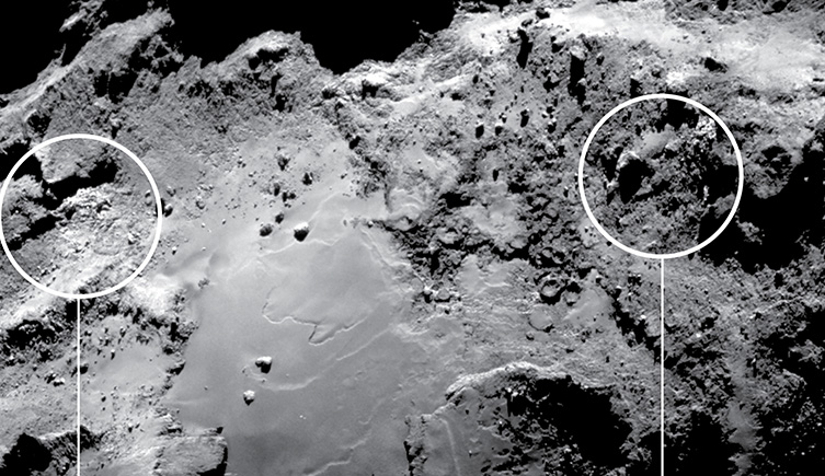 Ice on a comet