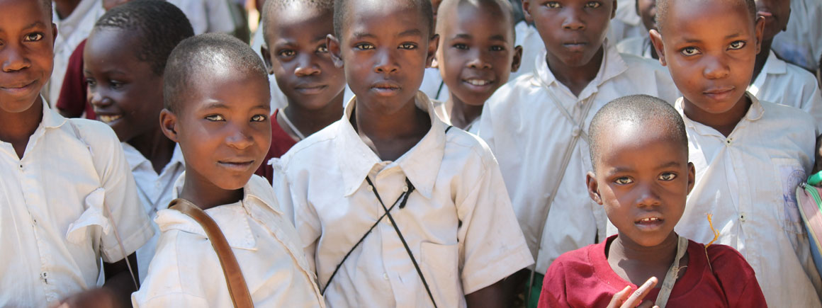 Schoolchildren in the Sengerema district of Mwanza, Tanzania