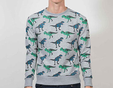 Men's Kitsch Dino sweatshirt