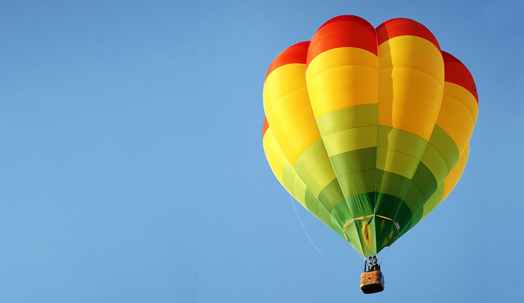 Win a hot-air-balloon flight