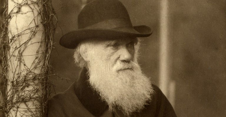 Black and White photograph of Charles Darwin
