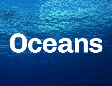 A promotional image of the ocean