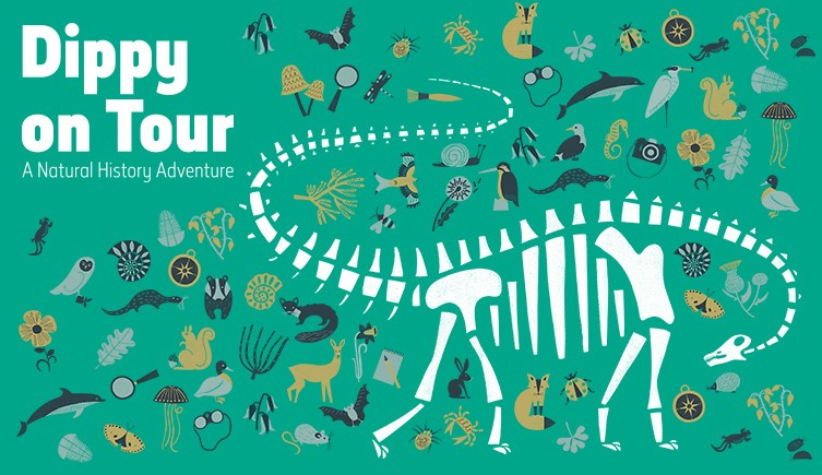 A promotional poster for Dippy on Tour