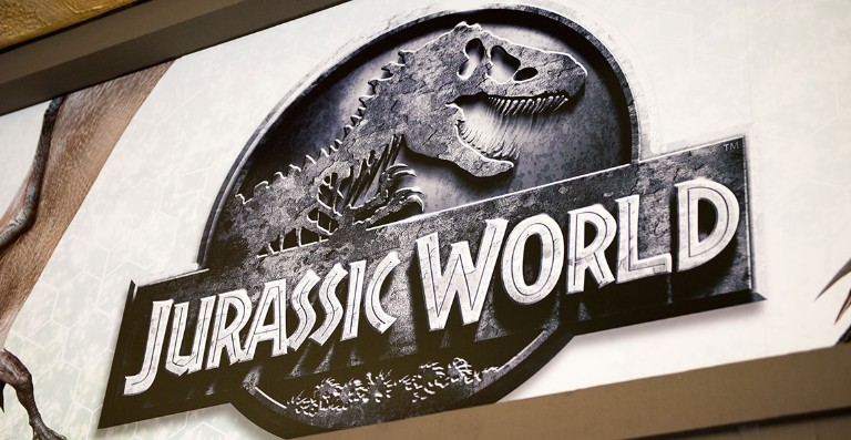 Jurassic World logo at Universal Studios Hollywood Park