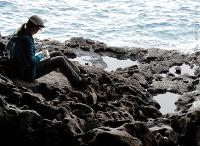 Victoria Herridge hunting fossil bones at a site originally excavated by Dorothea Bate.