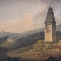 Drawing of the monument marking the landing site.