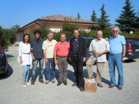 Max Barclay with Italian friends and colleagues at Entomodena.JPG